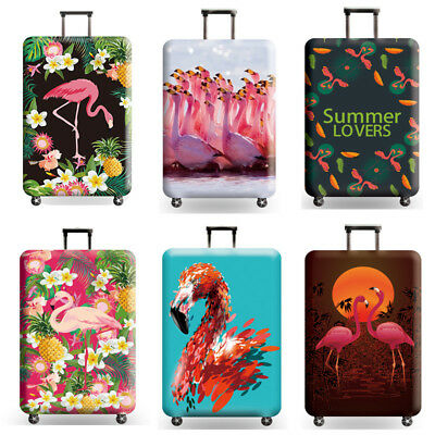 Printed Flamingo Suitcase Protective Cover Dust proof Travel Luggage Cover 18-32