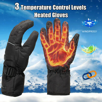 Men Women Rechargeable Electric Warm Heated Gloves Battery Powered Heat Gloves L