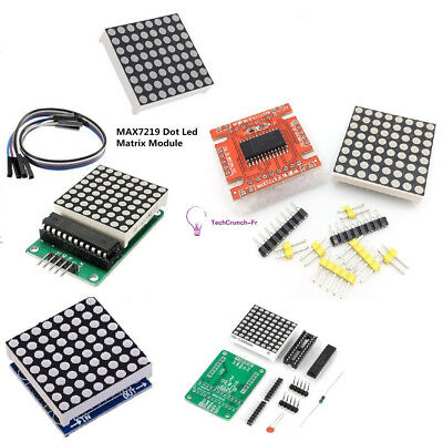 DIY Kits 8x8 3mm/5mm Dot Matrix Display Red/Full Color RGB LED MAX7219