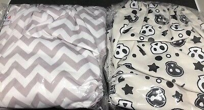 ALVABABY Cloth Diapers Pocket Washable Adjustable Reusable Lot Of 2 W/ 4 Inserts