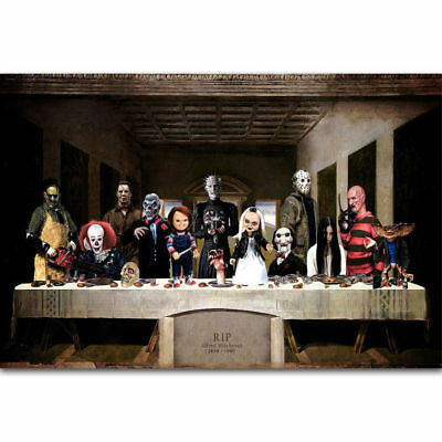 ZT037 Hot The Last Supper of Horror Movie Hot Film Character Poster Decoration