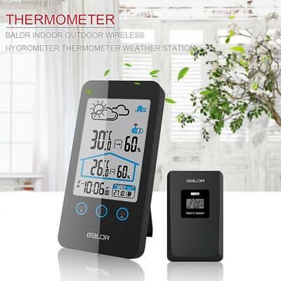 BALDR Weather Station Indoor Outdoor Digital Thermometer Wireless Moon Phase