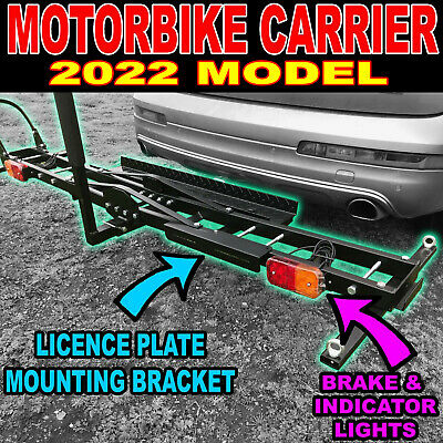 Motorcycle Motorbike Carrier Rack Towbar Arm Rack Dirt Bike Ramp - Brake Lights