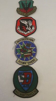 Lot of 4 PATCHES ORIGINAL Tactical Air Command 4450th Tactical Group. Flying