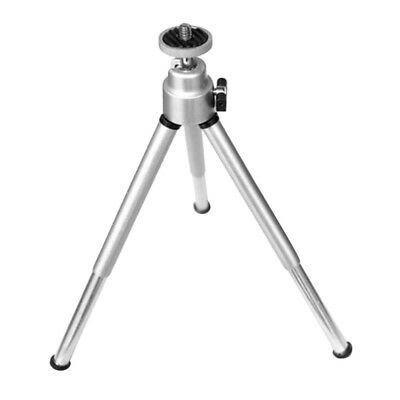 Mini Flexible Projector Tripod Stand Bracket Aluminum Alloy Holder Silver BS