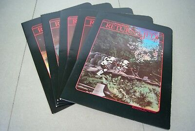 Vintage Star Wars Return Of The Jedi Folder Lot Of 5 Portfolio 1983