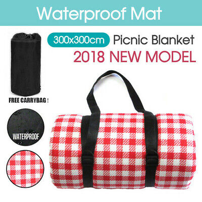 Extra Large 3m*3m Picnic Blanket Mat Waterproof Rug Cashmere Outdoor Camping New