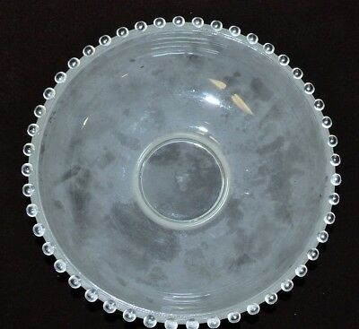 VINTAGE Frosted Art Deco Ceiling Light Fixture Hobnail Frosted Glass Shade 11""