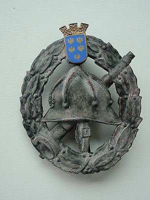 Romanian Kingdom Fire Fighter's Badge. Very Rare Medal