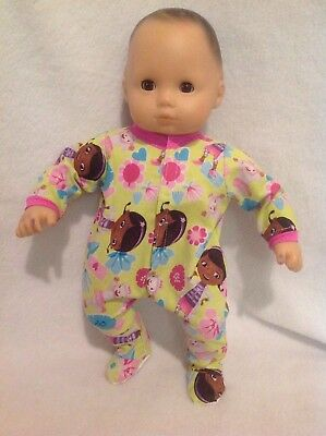 """15"""" Bitty Baby Doc McStuffins animal pjs sleeper pajamas Doll Clothes outfit"""
