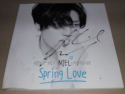 NIEL TEEN TOP SPRING LOVE 1st Solo REPACK K-POP REAL SIGNED AUTOGRAPHED PROMO CD