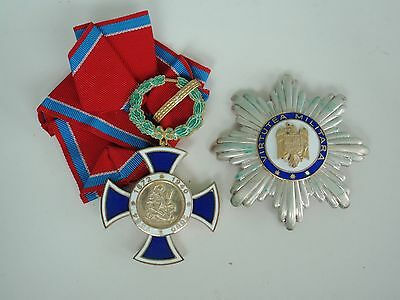 Romania Military Bravery Order Grand Officer Set. Silver/hallmarked/numbered Rr!