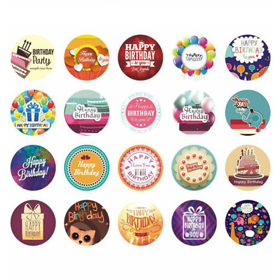 38pcs Happy Birthday Stickers DIY Scrapbooking Decorations Handmade Gifts Labels