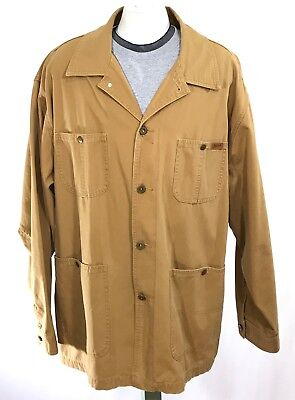 WOOLRICH Outdoorwear Canvas Chore Jacket Field Barn Coat sz LARGE Saddle Brown