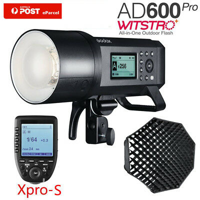 AU Godox AD600Pro TTL HSS Outdoor Flash+XPRO-S F Sony+120cm Octagon Grid Softbox