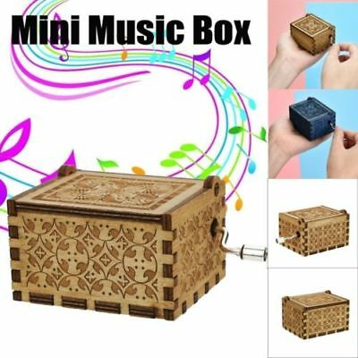 Harry Potter Music Box Engraved Hand Wooden Music Box Kid Toys Xmas Gift