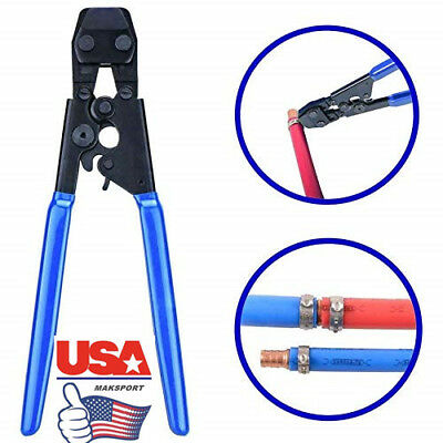 """US 3/8"""" to 1"""" PEX Pipe Clamp Cinch  steel Crimper Crimping Tools  SS Hose Clamps"""
