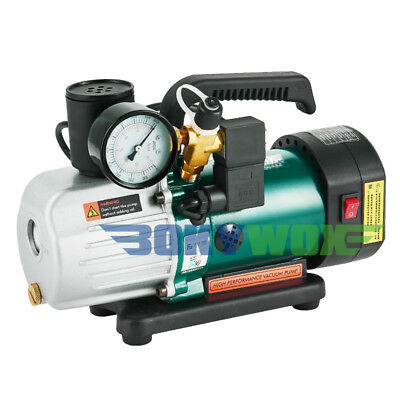 220V Double-Stage Rotary Vane Vacuum Pump 1.8CFM Laboratory/Refrigerator 1/6HP