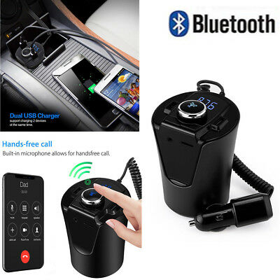 VODOOL BLUETOOTH FM Transmitter with Port USB 2.1A Car Charger for on