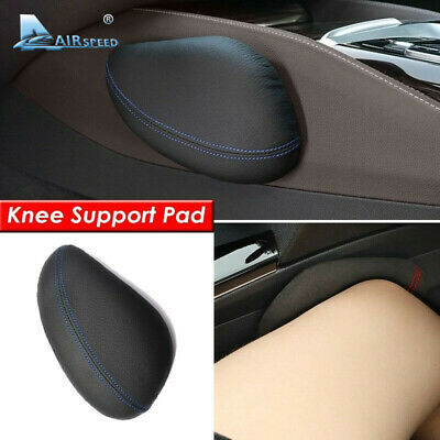1x Universal Leather Car Knee Pad Support Thigh Support Cushion Car Accessories