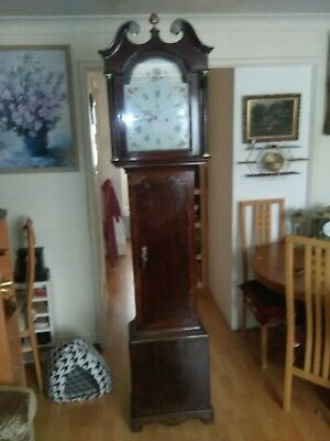 W.m Scott LAUDER Antique Grandfather Clock 8 days