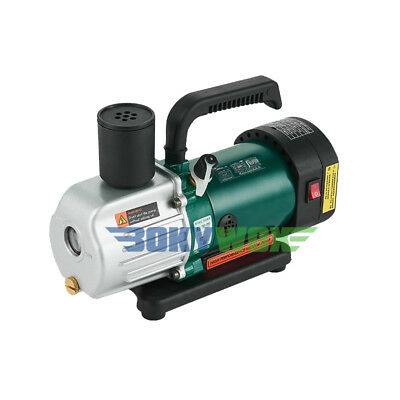 220V Double-Stage Rotary-Vane Vacuum Pump 1.8CFM,Refrigeration Maintenance 1/4HP