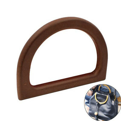 Wooden Bag Handle Replacement for DIY Purse Making Handbag Shopping Tote New GS