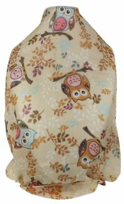 Ladies Comic Owls Print Scarf Creative Branch Trees Soft Chiffon Classic Shawl