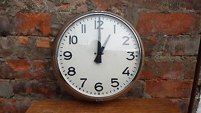 Beautiful Vintage 1950s Wooden Wall Clock - Movement Needs Replacing