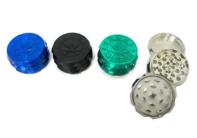50mm 3 Part Tobacco Dry Herb Grinder Novelty Amsterdam Leaf Zinc Alloy