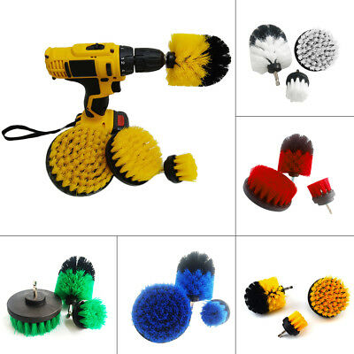 3Pcs Cleaning Drill Brush Wall Tile Grout Power Scrubber Tub Cleaner Combo B3U1