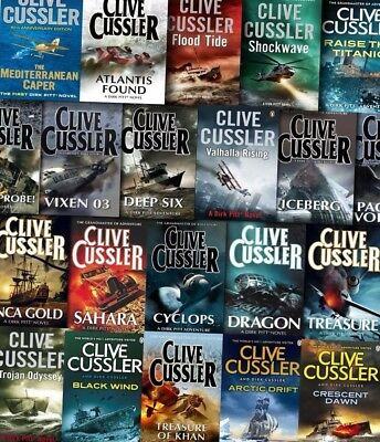 The Dirk Pitt Series by Clive Cussler 1-21 Audiobook Collection (MP3-DVD)