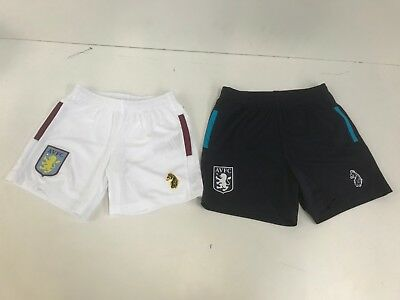 Aston Villa FC Luke Kid's 2018/19 Football Shorts - Various Sizes/Colours - New