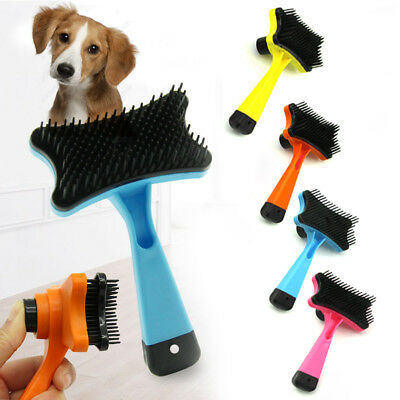 Chic Hair Self-cleaning Brush Cat Dog Pets Puppy Supplies Grooming Comb 4Colors