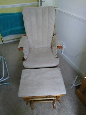 rocking gliding nursing chair with gliding footstool removable