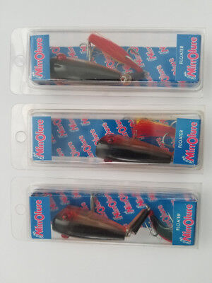 Lot Of Three MirrOLure Fishing Lures - 12MBT 808 Floater - New In Packages