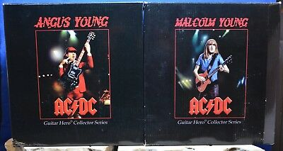 AC/DC - Both Angus Young & Malcolm Young 2006 KnuckleBonz Guitar Hero Figures