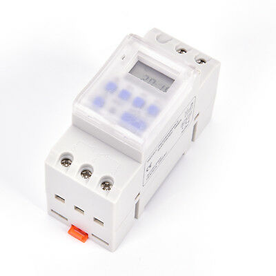 THC15A AC 220V Digital LCD DIN Programmable Weekly Rail Timer Time Relay Switch&