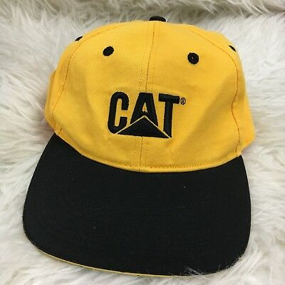 Caterpillar Hat Yellow gold & Black embroidered CAT Logo Adjustable Adult