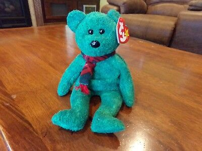 30a001c9218 ty Beanie Baby Wallace Scottish Bear Retired 1999 Green Red Tartan Scarf