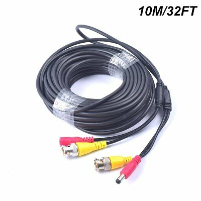32FT 10M All-in-1 BNC Video + Power DC Extension Cable for CCTV Security Camera
