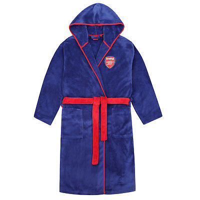 Arsenal FC Official Football Gift Boys Fleece Dressing Gown Robe