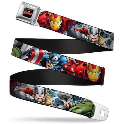 Buckle-Down Seatbelt Belt - Marvel Avengers - Superhero Poses