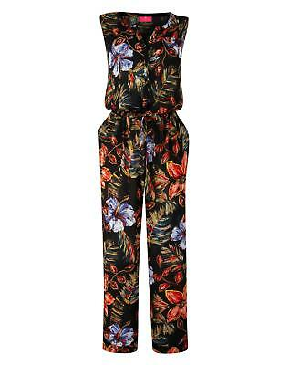New Womens Together Print Jumpsuit