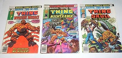 MARVEL TWO-IN-ONE #31 #34 and #35  Mystery Men - Nighthawk & Skull the Slayer