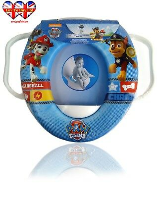 Baby Toilet Seat Children's Paw Patrol Soft Padded With Handles (Training Seat)