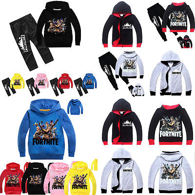 FORTNITE Kinder Jungen Kapuzenpullover Sweatshirt Tops Hose Traininganzug Sets