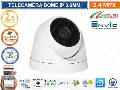 Telecamera Dome Ip 2 Mp Sony Imx323 3.6Mm Ir Led Onvif Con Ip66 P2P Cloud Xmeye