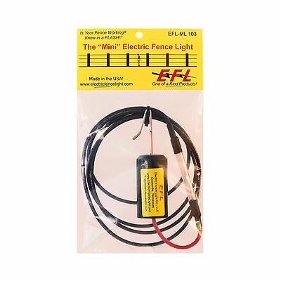 """""""Mini"""" Electric Fence Light  for Chargers 3 Joule and Higher"""