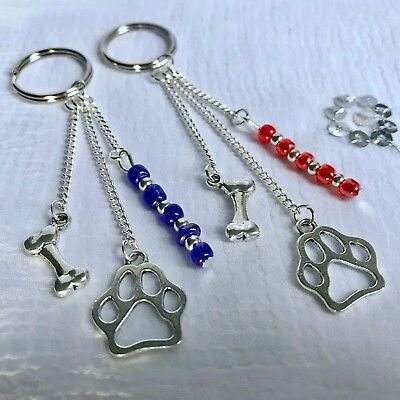 New Dog Lover Paw Print Keyring ~ Stocking Filler Gift idea ~ Memorial, Devotion